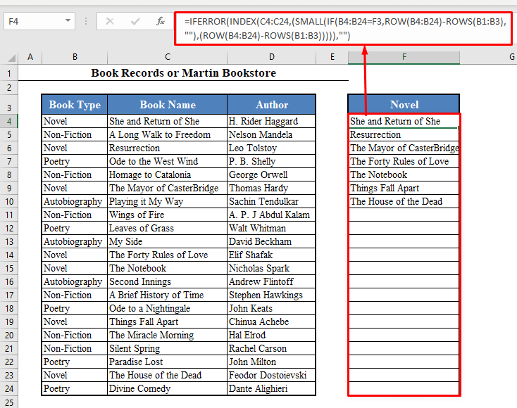 Array Formula to Look for Multiple Matches