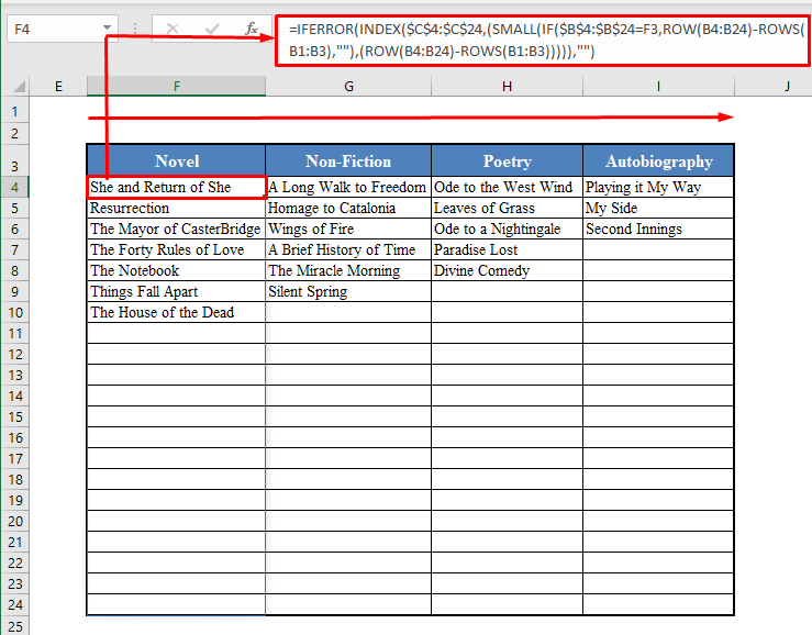 Dragging the Fill Handle in Excel.