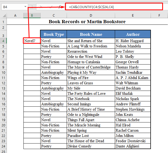 Creating a Unique Name for Each Lookup Value