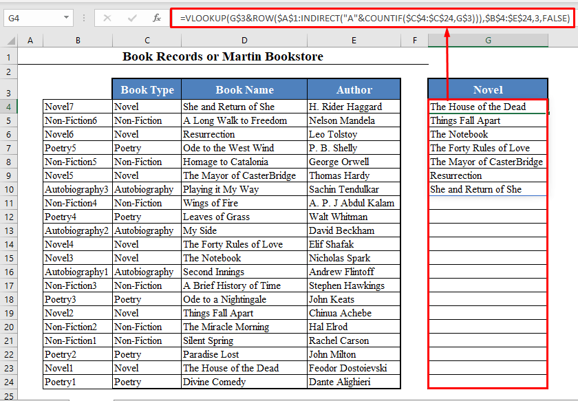 VLOOKUP to Find Multiple Matches in Excel