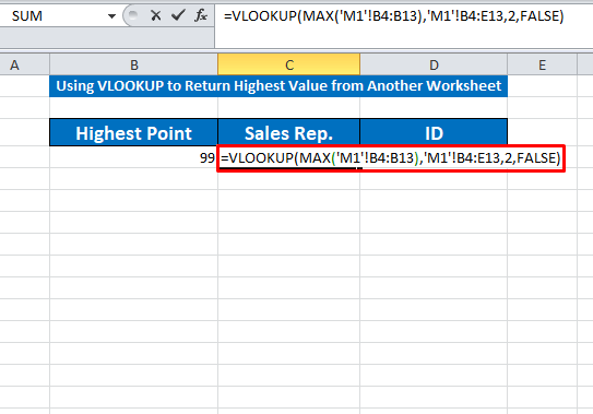 vlookup with max