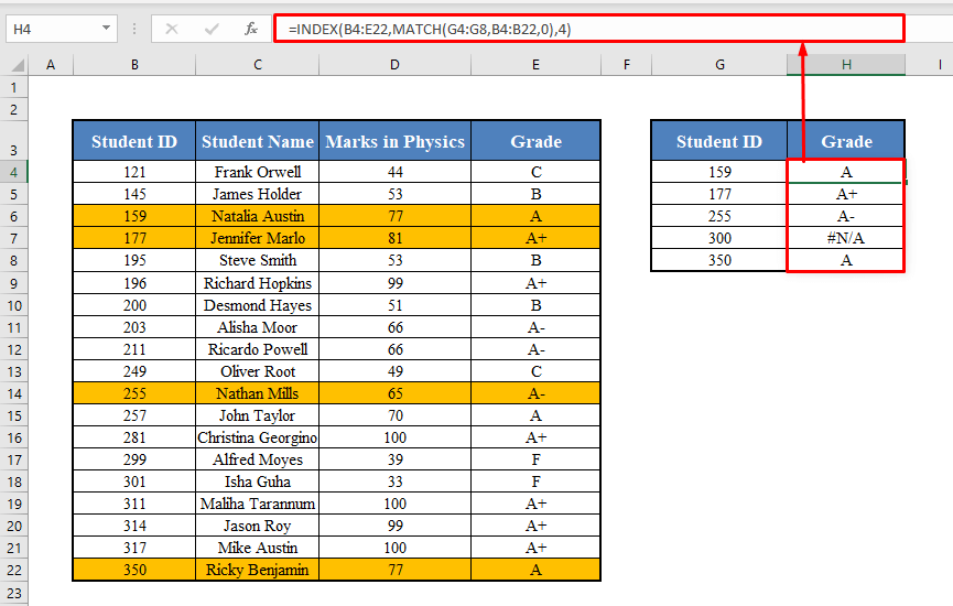 INDEX-MATCH Array Formula