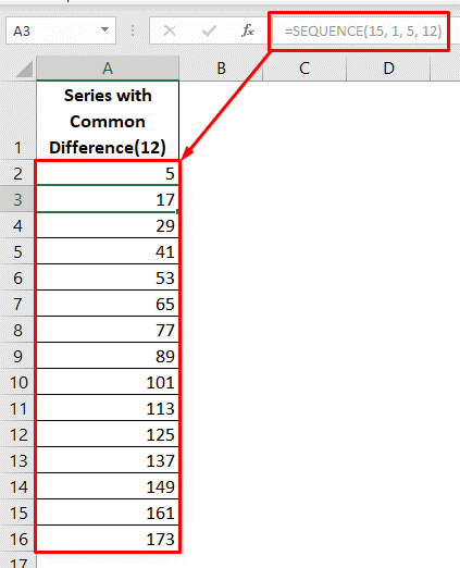 applying sequence function to autofill numbers in excel