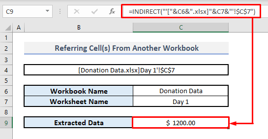 INDIRECT Function to Refer Sheet Name from Another Workbook in Excel