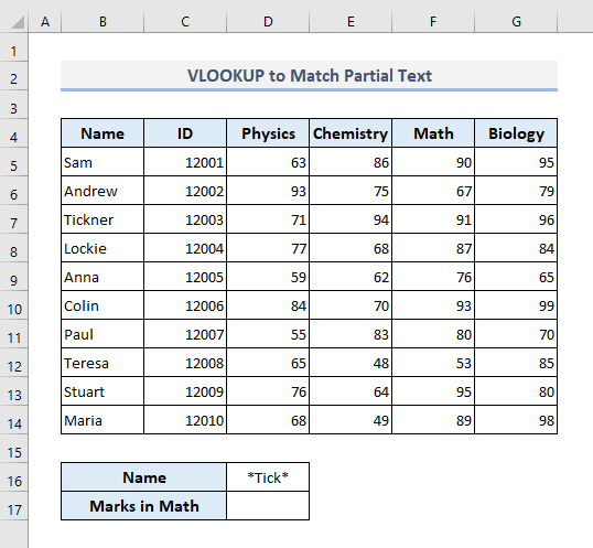 Partial Text Match with VLOOKUP in Excel