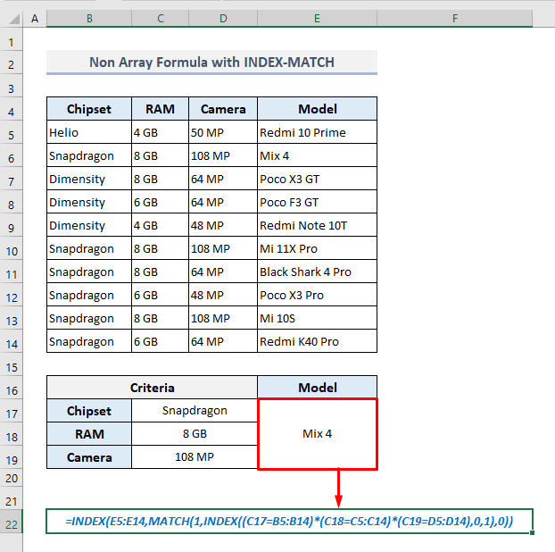 index match with 3 criteria in excel non-array formula