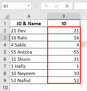 using flash fill to autofill numbers in excel without dragging