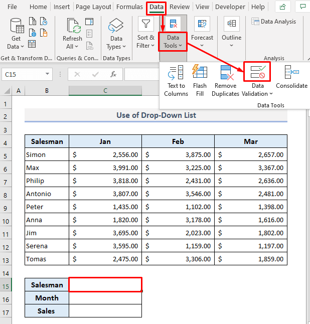 Use of Drop-Down List Items as VLOOKUP Values