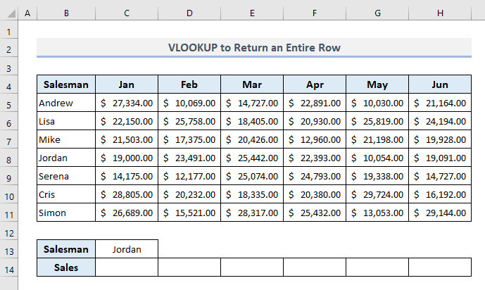 Combining VLOOKUP with Column Function to Return an Entire Row