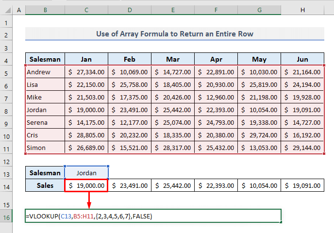 Applying an Array Formula in VLOOKUP to Extract Rows in Excel