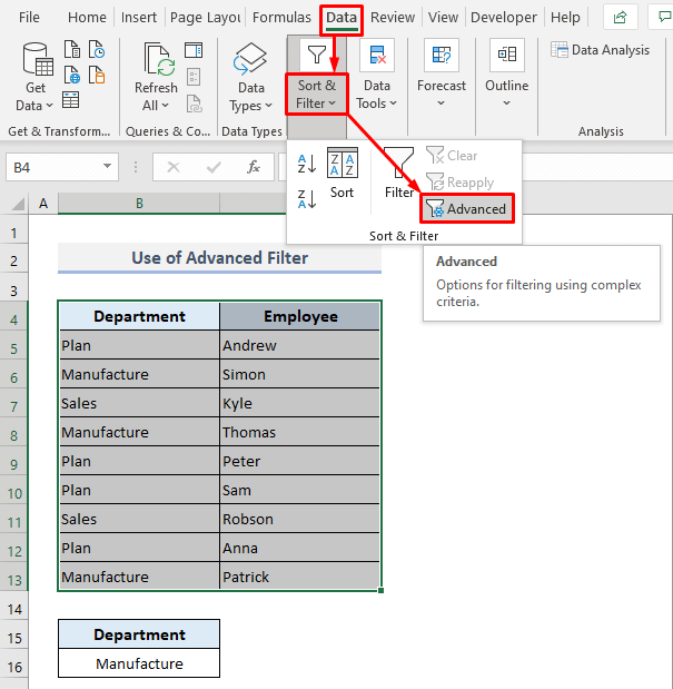 VLOOKUP to Extract All Matches with Advanced Filter in Excel