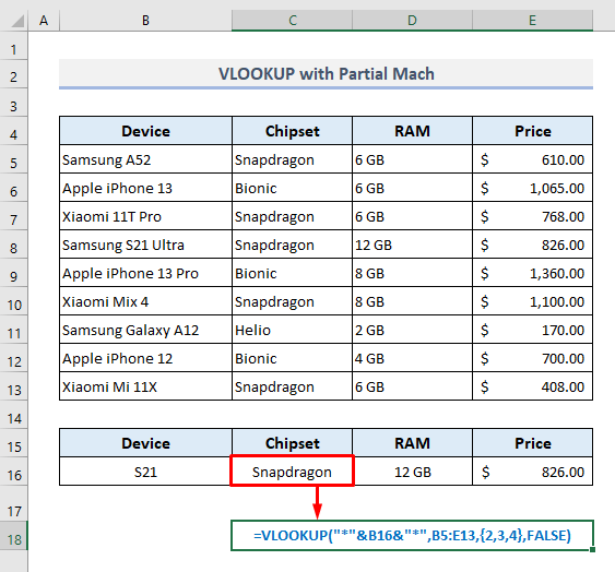 XLOOKUP Intakes An Optional Argument to Use Wildcard Characters