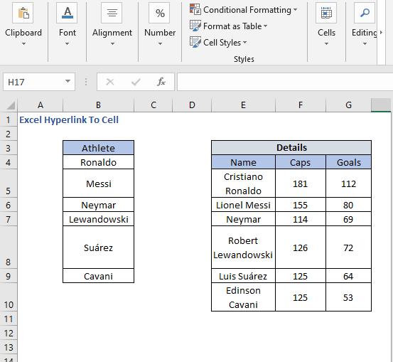 Dataset - Excel Hyperlink To Cell