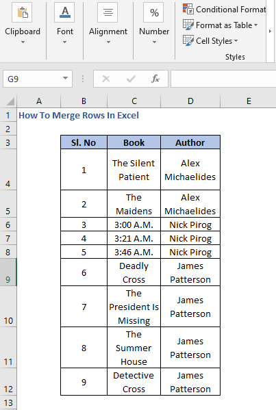 Data - How To Merge Rows In Excel