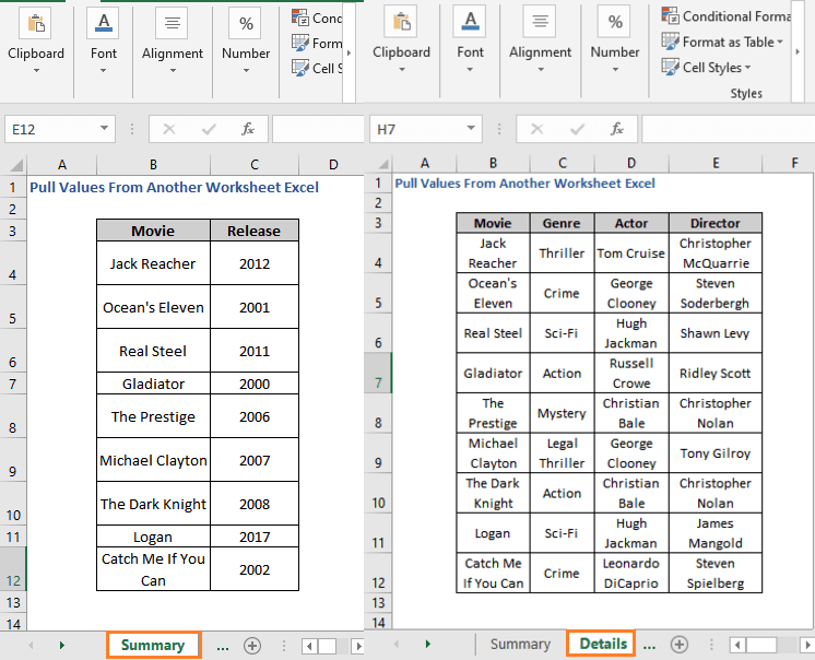 Data - How to Pull Values From Another Worksheet Excel