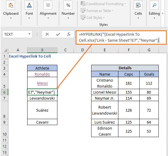 HYPERLINK Formula to set link