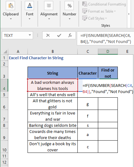 IF-ISNUMBER with SEARCH function to generate readable result