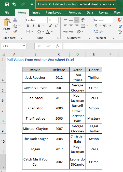 Pull Values from another worksheet workbook