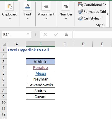 Hyperlink to different sheet cell