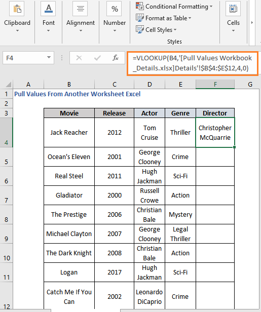 VLOOKUP Formula result to Pull Values from Another Workbook