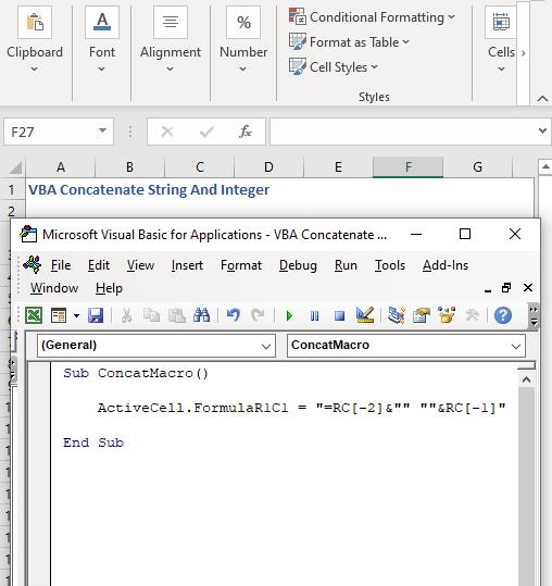Code for button - VBA Concatenate String