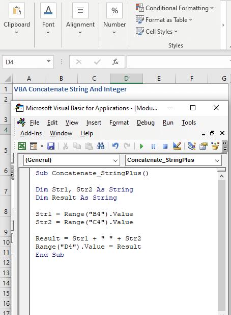 Addition Operator to Concatenate Strings