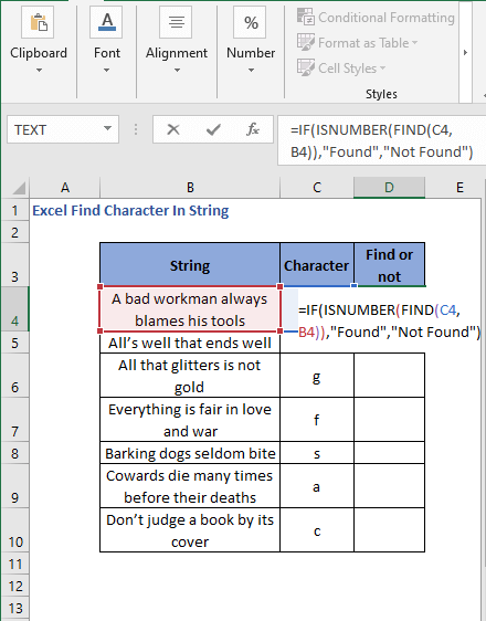 IF-ISNUMBER with FIND function to generate readable result
