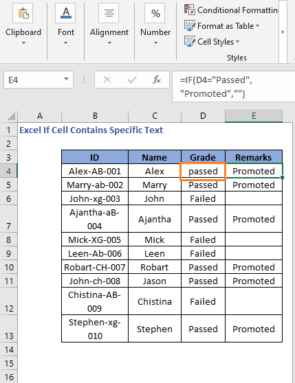 IF Formula code to check cell contains specific text case insensitive