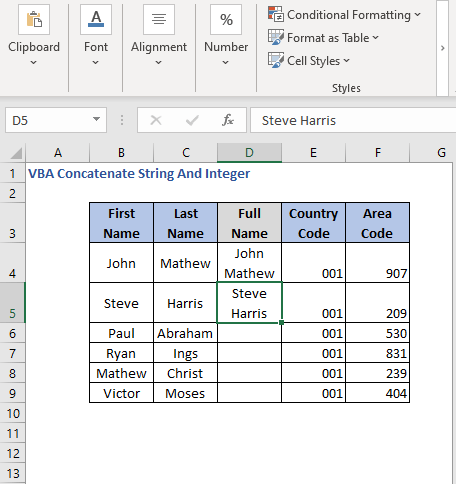 Result after changing cell references-VBA Concatenate String And Integer