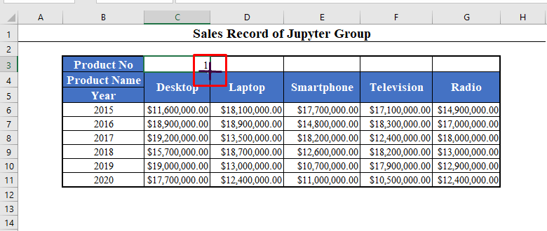 Fill Handle in Excel