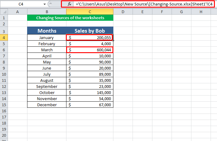 Changing Source of Links in Excel