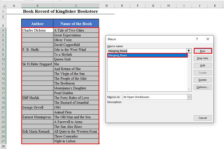 Macro Box in Excel