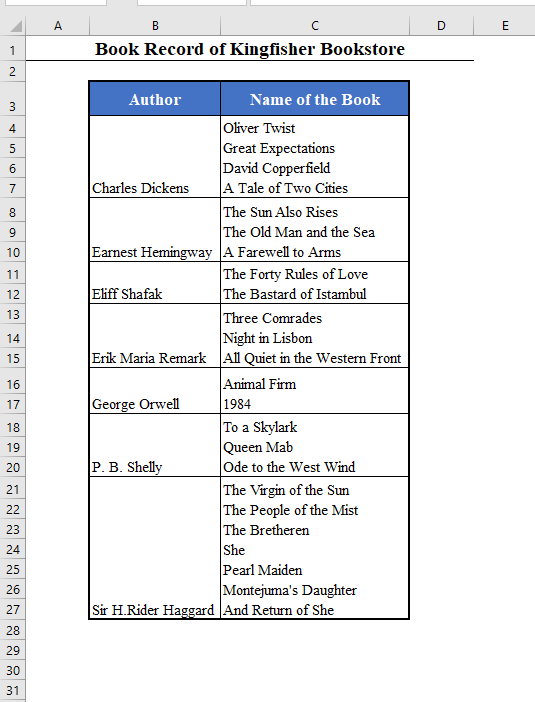Combine Rows in Excel Using Macro