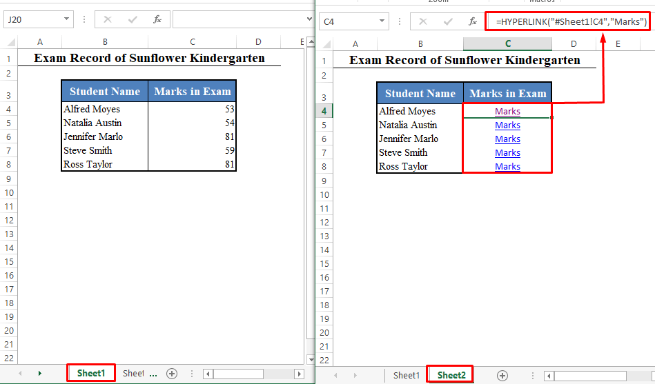 Quick View to Add Hyperlink in Excel
