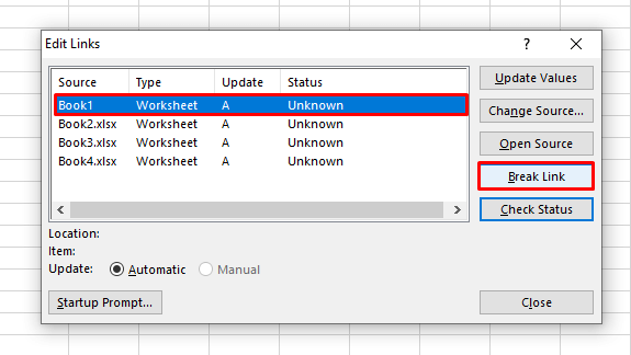 Removing External Links from Cells in Excel