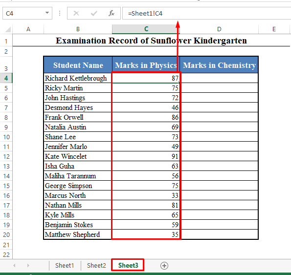 New Worksheet Opened in Excel