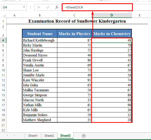 HYPERLINK Function to Link to Another Worksheet in Excel