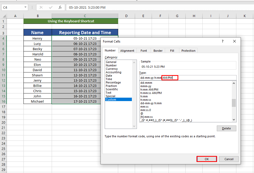 New formats for date and time