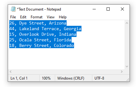 Use of Notepad to Merge Columns Data in Excel