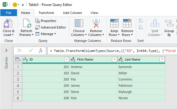 Use of Power Query to Concatenate Text from Columns in Excel