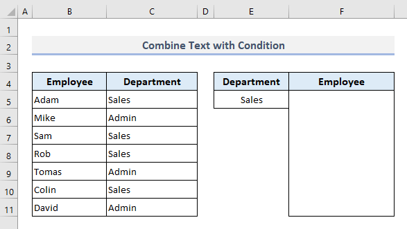 Merge Text with Conditions in Excel