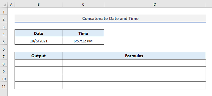 Join Dates and Times in Excel