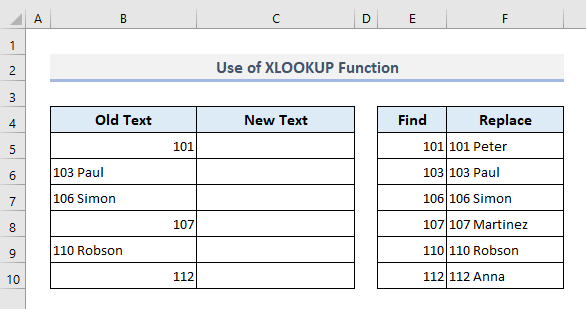 Use XLOOKUP Function to Search And Replace Multiple Values in Excel