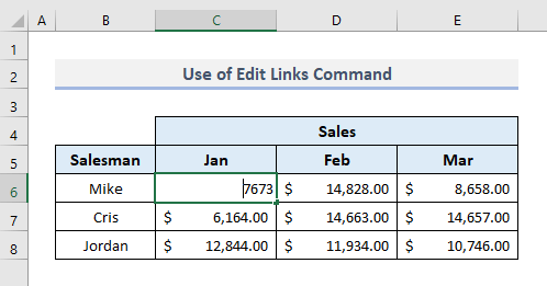 Use Edit Links Command to Find and Remove External Links in Excel