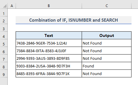 Search for Partial Match of a Text in a Range of Cells in Excel