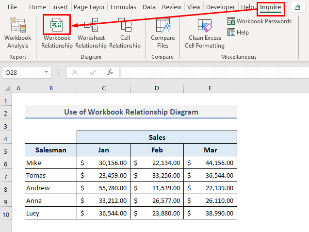Apply the Workbook Relationship Diagram to Find Broken Links in Excel