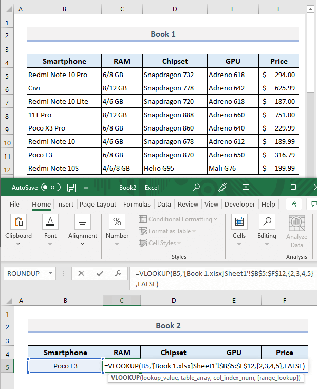 VLOOKUP to Return Multiple Columns from Different Workbook in Excel